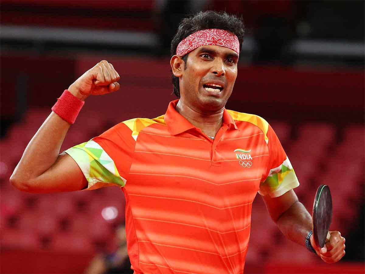 Sharath Kamal powers on at 39 (Source: Getty)
