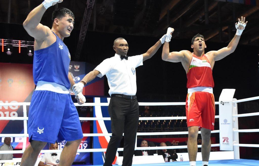 Rohtak pugilist Sanjeet (91kg) outpunched the second seed Sanjar Tursunov of Uzbekistan 4-1