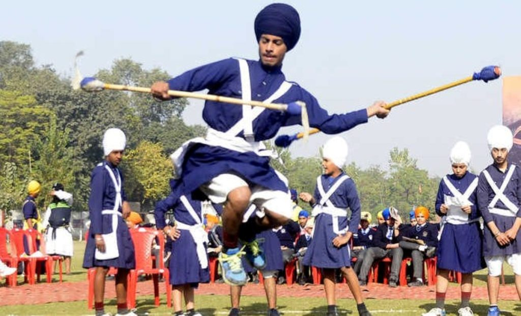 Gatka involves a series of combat training systems like duels and the use of weapons