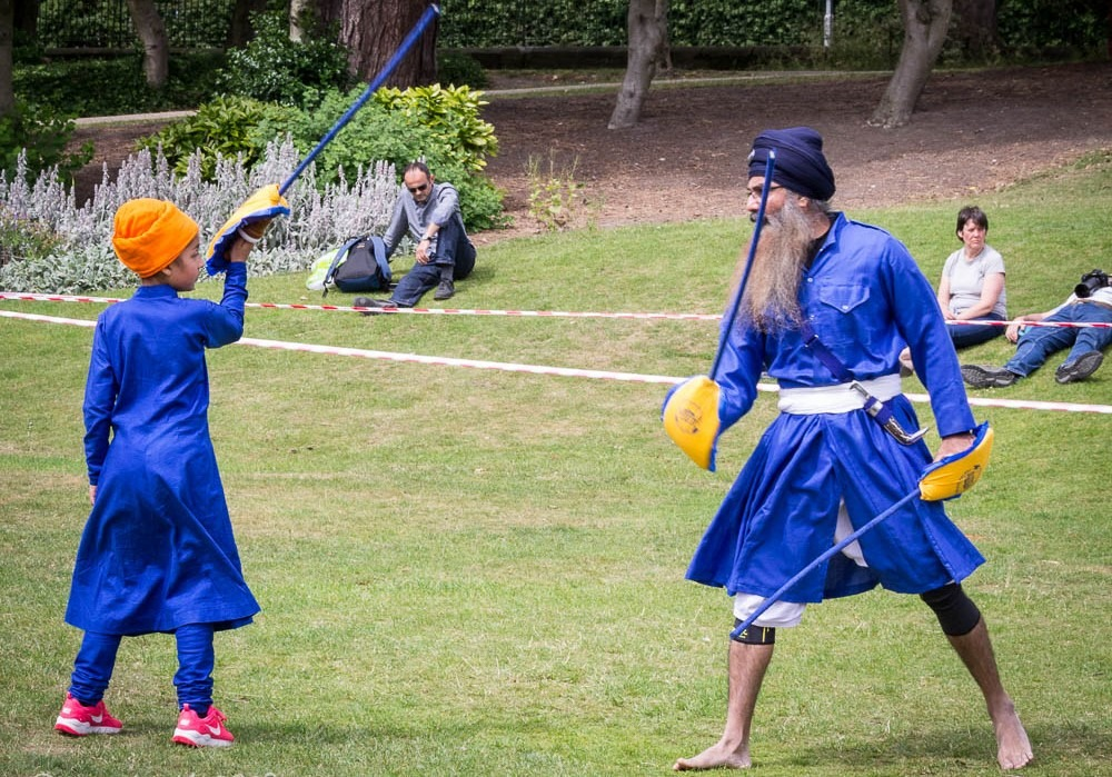 Not only in India, today gatka competitions take place in around 30 countries