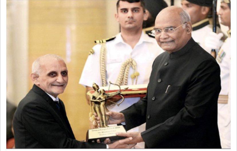 Marzban Patel honoured by the Dronacharya Award