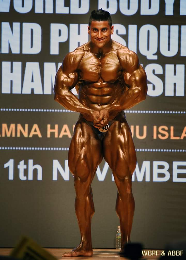 Anuj is the first Indian ever to bag a gold medal in the 100+ kg category World Bodybuilding Championships