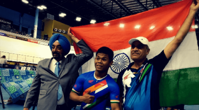 Esow Alben made history on August 16, 2018, after clinching India's first junior cycling World Cup silver medal