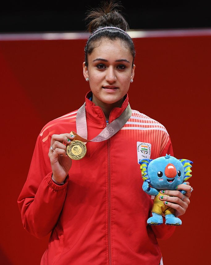 Manika Batra at the Commonwealth Games in 2018