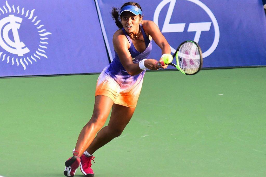 Ankita Raina in action (Twitter: Indian Tennis Daily)