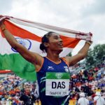 Hima Das won the 400 m final at the World U-20 Championships 2018 held at Tampere, Finland, clocking 51.46 seconds. (Image: Hindustan Times)