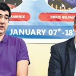 Kramnik and Gelfand (Photo: Indian Express)