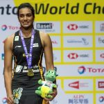 P V Sindhu after becoming the BWF World Champion in August 2019 (Image: Hindustan Times)