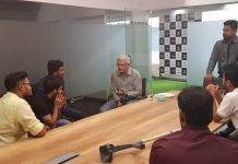 Sports Industry Veteran and CricBuzz expert, Joy Bhattacharjya, holds a group discussion with the GISB students on the Indian sports landscape