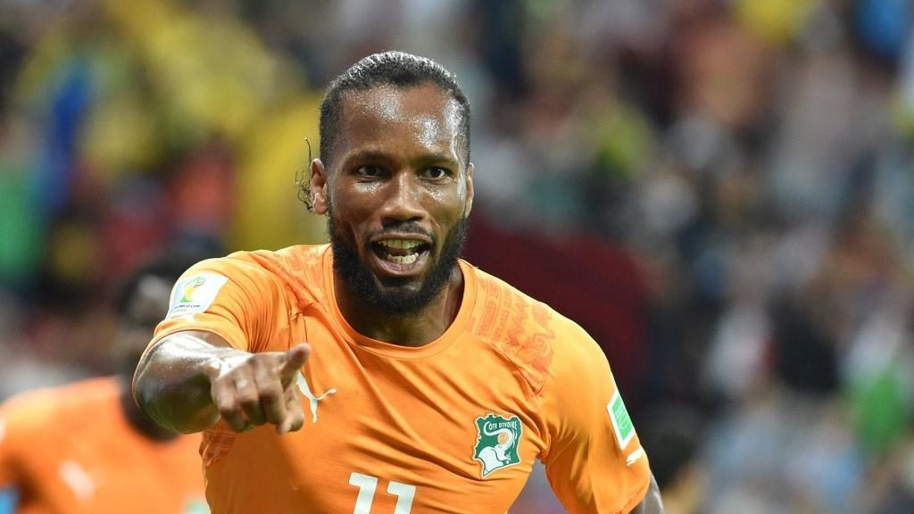 African footballer Didier Drogba had almost single-handedly (with his words and actions) ended the civil war ravaging his native Ivory Coast (Image: TheNational.ae)