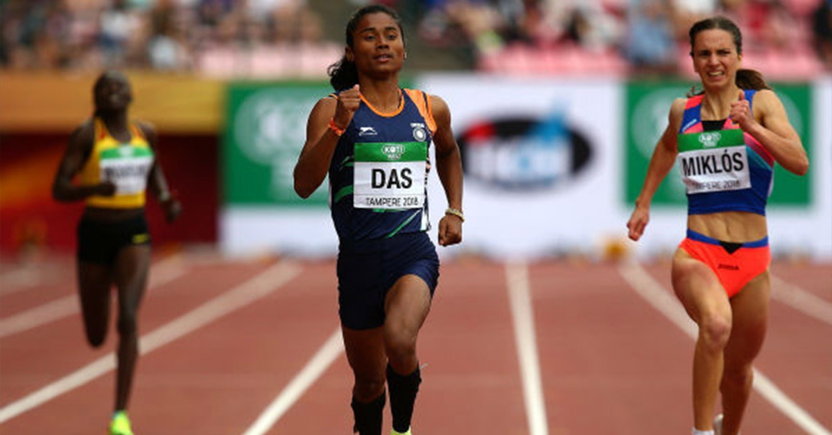 Our most-loved Dhing Express, Hima Das pledged to support by donating her one-month salary. (Image: Indian Express)