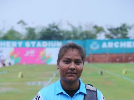 Silver Medalist in Recurve Women IndividualPrathana Solanki of Panjab University Patiala