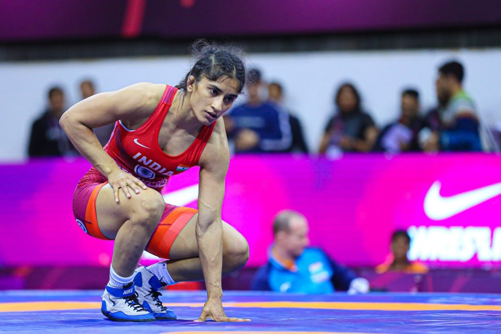 Vinesh Phogat had to be contend with a bronze (Image: unitedworldwrestling)