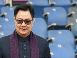 Union minister for sports and youth affairs Kiren Rijiju (Image: Twitter/RijijuOffice)