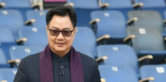 Union minister for sports and youth affairs Kiren Rijiju (Image: Twitter/RijijuOffice)