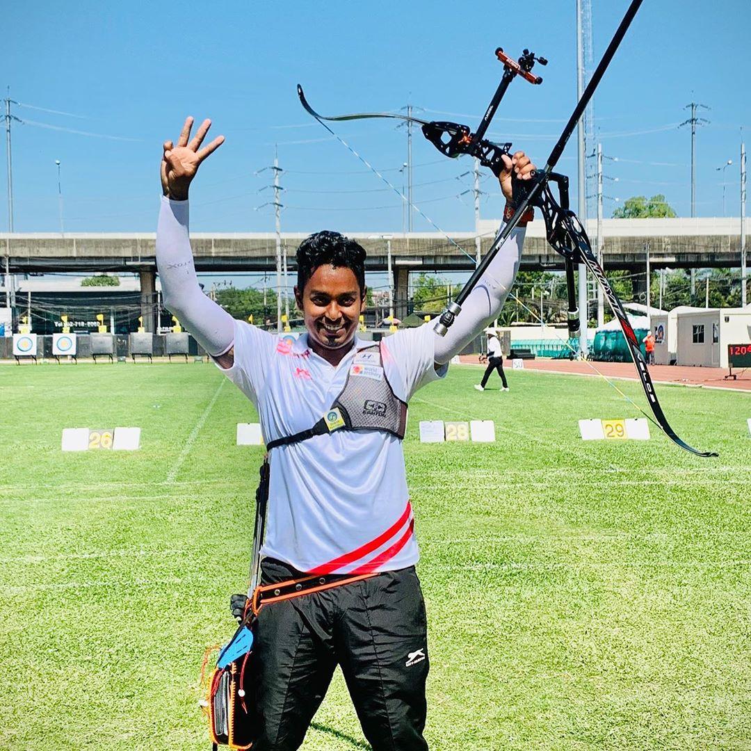Atanu Das at 21st Asian Archery Championship 2019 held at Bangkok.