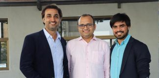 CricHeroes Founding Team: Abhishek Desai - Left, Kuntal Shah - Centre, Meet Shah - Right