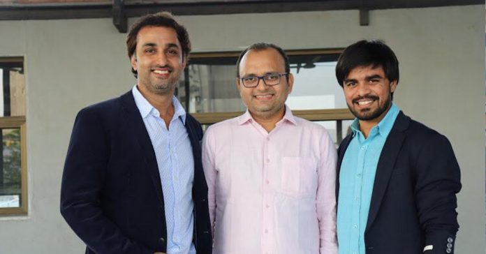 CricHeroes Founding Team: Abhishek Desai - Left, Kuntal Shah - Centre, Meet Shah - Right