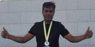 Marathon man (Image: Krishnan Nair Padmakumar/Facebook)