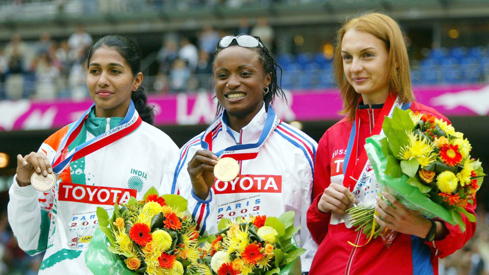 Anju Bobby George won the bronze medal at the 2003 World Athletics Championship (Source: Olympic Channel)