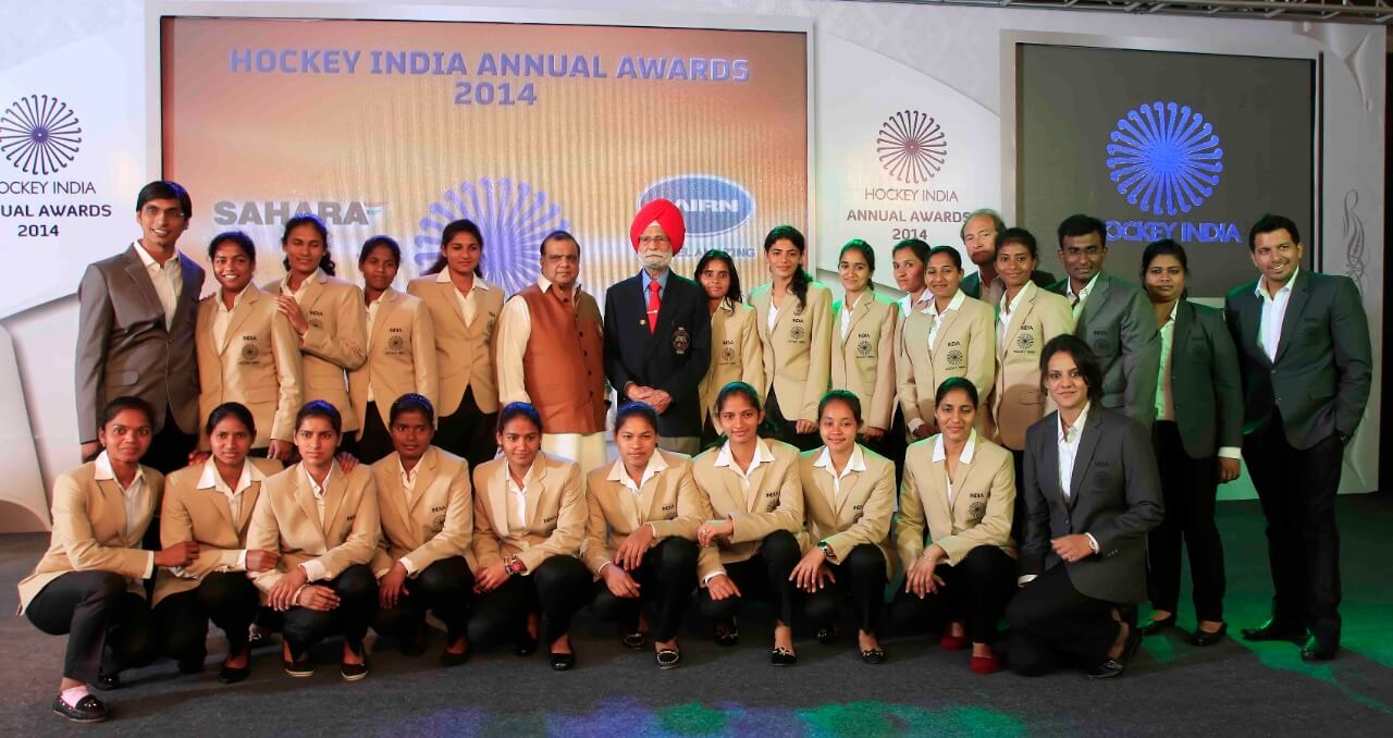 Balbir Singh Sr during the Hockey India Awards in 2014 where he was awarded the Life time Achievement award