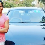 Dutee Chand with her BMW (Source: Rediff.com)