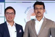 Neerav Tomar along with Col. Rajyavardhan Singh Rathore (Source: Twitter/Neerav Tomar)