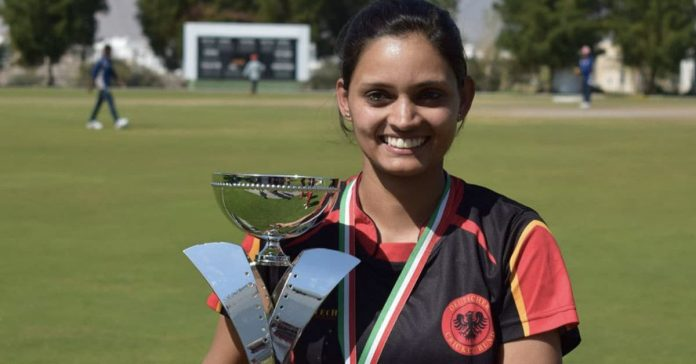 Germany's Indian-origin female cricketer Anuradha Doddaballapur notched up four wickets of as many deliveries as they beat Austria by 137 runs. (Source: Anuradha Doddaballapur/Twitter)