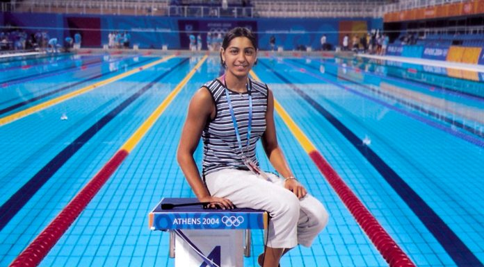 Shikha Tandon at the 2004 Athens Olympics