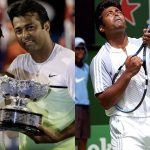 Leander Paes with Martina Hingis and Martina Navratilova