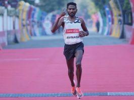 Avinash Sable at Airtel Delhi Half Marathon