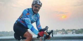 C. Sylendra Babu, the chief of Tamil Nadu Railway Police, on Monday finished a 600km journey on a cycle to promote and spread awareness about cycling