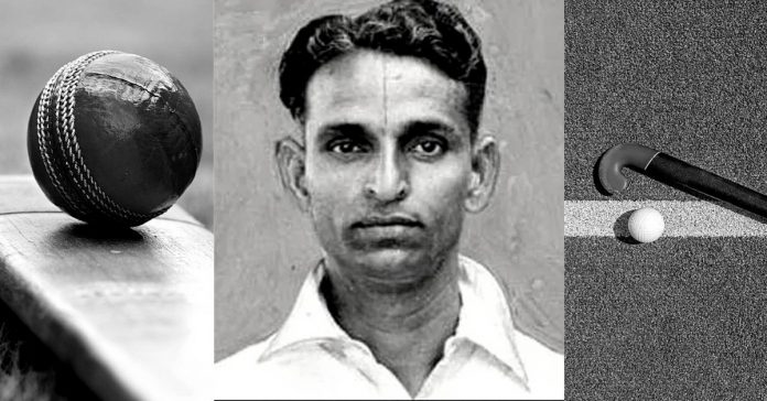 MJ Gopalan was a cricketer and an extremely talented centre-forward in field-hockey.