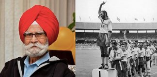 Balbir Singh at the 1956 Olympics