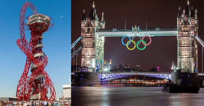 The 'Orbit' monunmet constructed during London Olympics 2012
