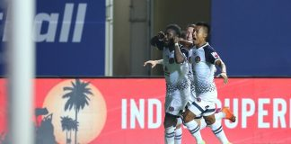 ISL: Bright Enobakhare after his goal against FC Goa
